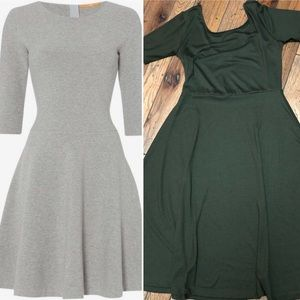 Olive Green Fit n Flare Premise Dresses